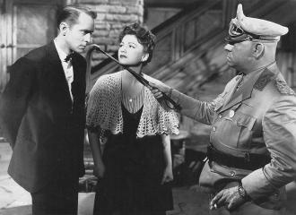 Franchot Tone, Anne Baxter and Erich von Stroheim.