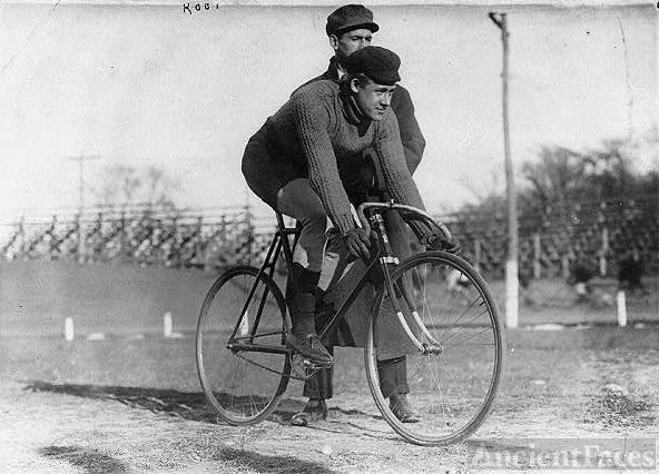 Bicycle riders: Eddie Root