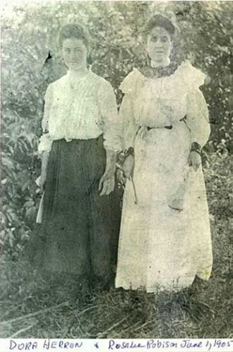 Dora Herren and Rosa Lee Robison