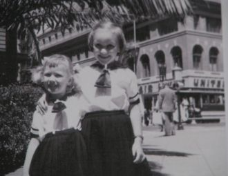 Pedersen Sisters' First American Day