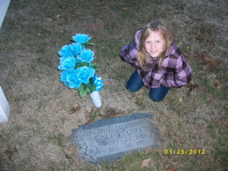 Sues Grave and her Great Granddaughter Mckenzie.