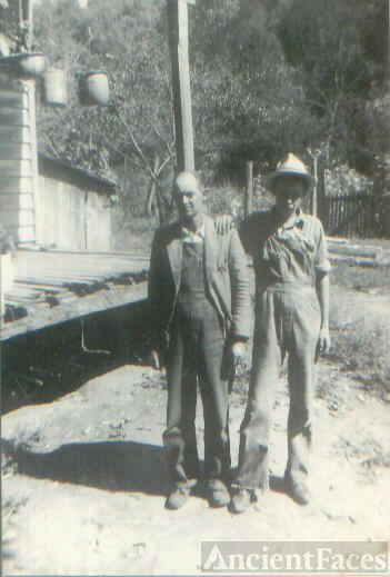 "Delbert ""Dib"" Hastings (20Dec1899-17Jul1987) and his oldest son John Delbert ""J.D"" Hastings (22Mar1925-22Sep2001) from Jackson County Alabama"