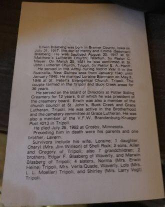 Erwin Blasberg Biography