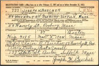 U.S., World War II Draft Cards Young Men, 1940-1947 FRONT