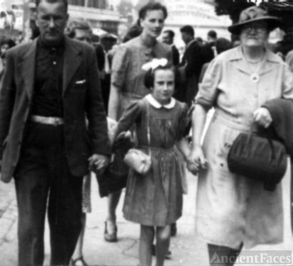 Harry James Bridge, Margaret Ann Bridge and Louisa Houseman