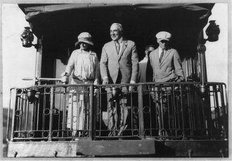 [Warren G. Harding, full length portrait, standing on...