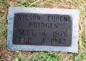 Gravestone of Wilson Eugene Pridgen