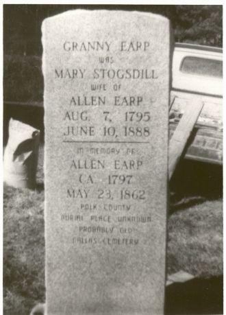 The Gravestone of Granny Earp