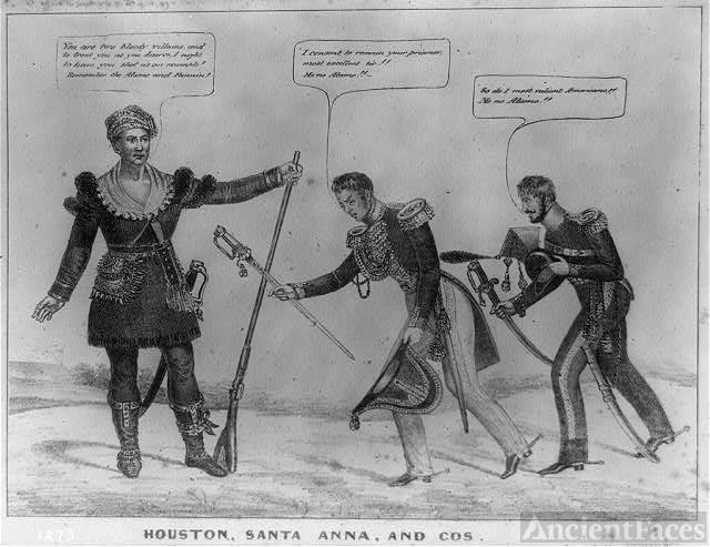 Houston, Santa Anna, and Cos