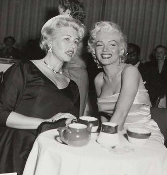 Marilyn Monroe and Sheilah Graham