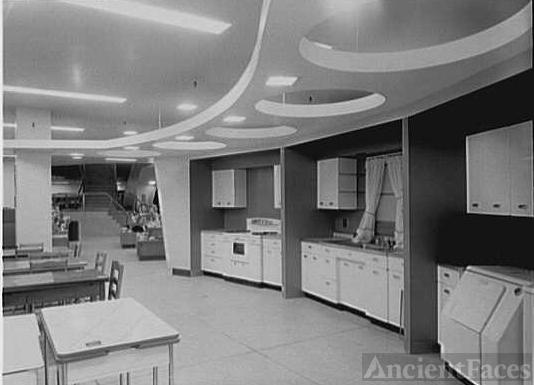 Macy's, business in Jamaica, New York. Model kitchens
