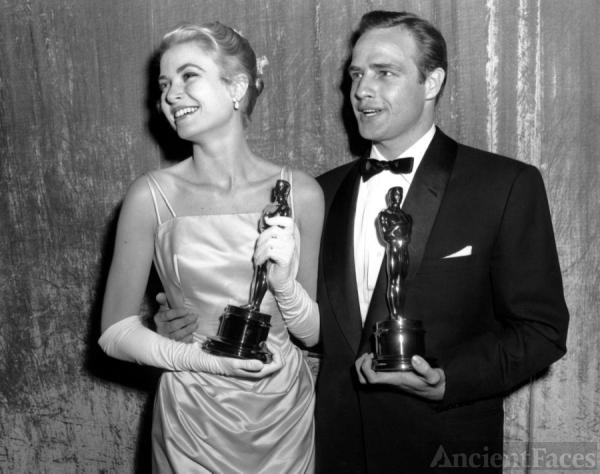 Marlon Brando and Grace Kelly