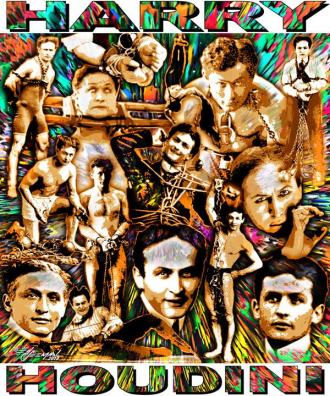 Harry Houdini Collage by Ed Seeman.