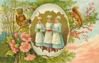 Easter - Spring Postcard