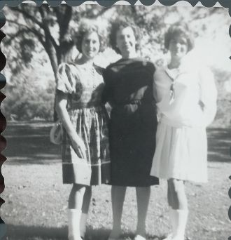 Elaine Rhoades, Joyce Irle and Bettie Lou Odis