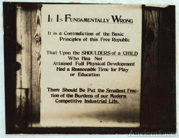 Exhibit panel  - National Child Labor Committee