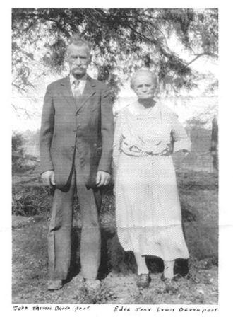 John Thomas & Edna Jane Davenport