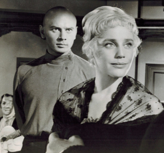 Yul Brynner and Maria Schell