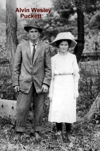 Alvin Wesley Puckett & unknown woman