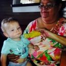 My mom and my son