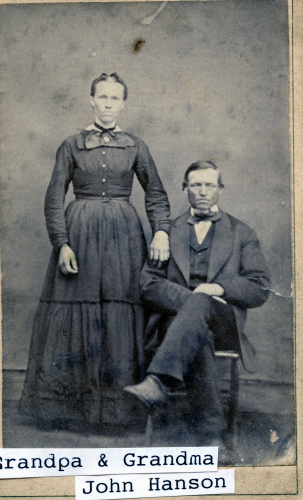 Grandpa & Grandma John Hanson