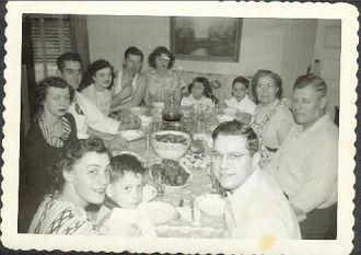 The Schena Family, New York 1950