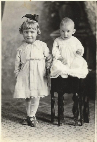 Lois Faulkner and brother