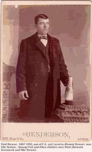 Fred Stewart, son of F.A. and Lucretia