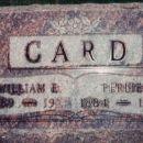Perlie and William E. Card Headstone
