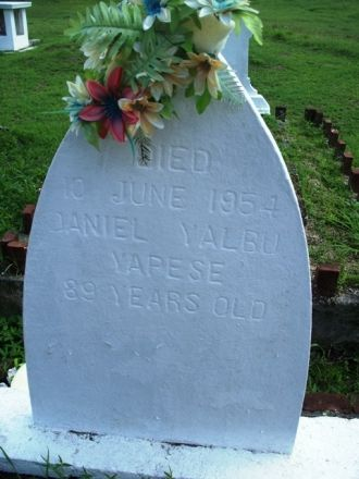 Tinian Leprosy cemetery, 1954