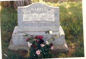 John and Alice Harris Gravesite