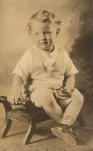 2 year old Edward Cecil Barnard