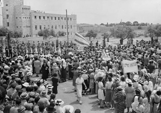 Jewish anti Palestine White Paper demonstrations....
