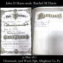 John D. Marrs , weds, Rachel M. Davis