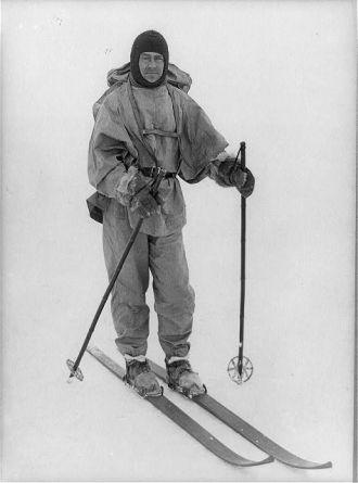 Captain Robert F. Scott on skis / H.G.P.