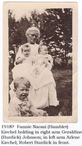 Fannie Hamblet Kiechel with Babies