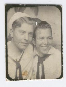 G.W. Riley and friend