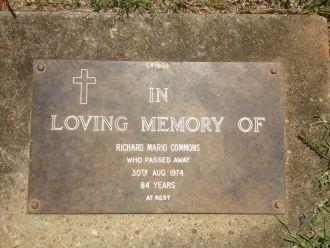 Richard Mario Commons Gravesite