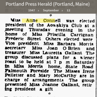 Anne Louise Connell-Coughlan--Portland Press Herald (Portland, Maine)(12 sep 1947)