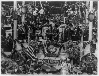 Charles A. Lindbergh speaking