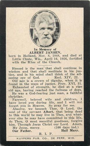Albert Jansen Obituary