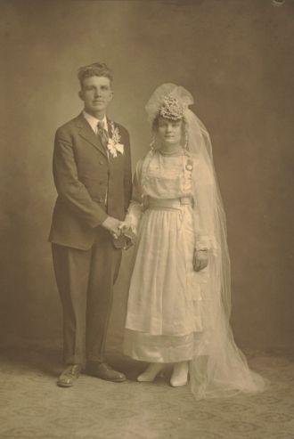 Wedding of Bertha Hoppe & Arthur Schroeder
