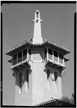 69. April 1967 TELEPHOTO DETAIL OF TOWER - Mar-a-Lago,...