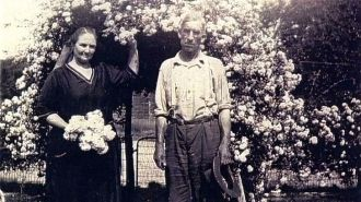 Rosa Livingston and Unknown Man