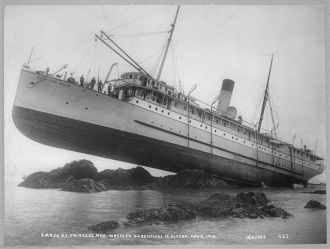 S.S. Princess May wrecked on August 5, 1910