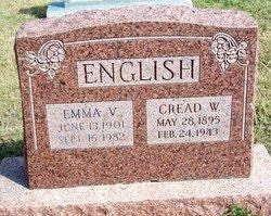 Emma and Cread English gravesite