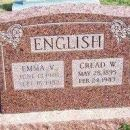 Emma and Cread English gravesite