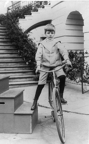 Archie Roosevelt on a bicycle