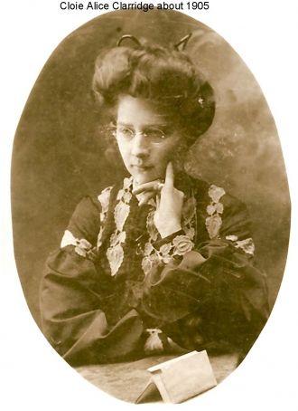 Cloie Alice (Clarridge) Hinshaw, IN 1905
