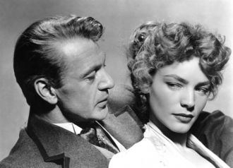 Gary Cooper and Lauren Bacall